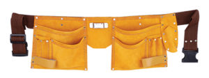 Leather Tool Apron Double Pocket
